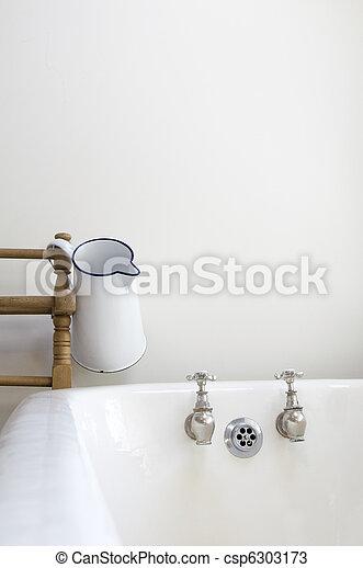 salle bains, vieux façonné - csp6303173