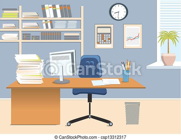 salle, bureau - csp13312317