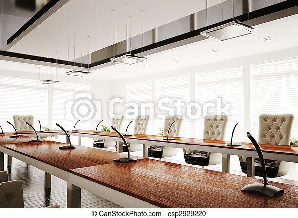 salle conférence, render, 3d - csp2929220