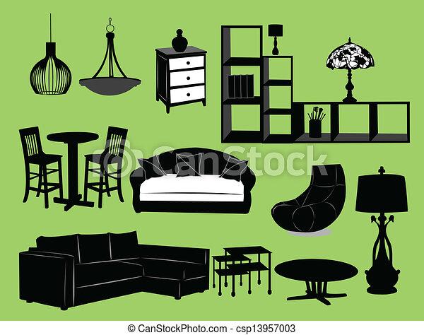 salle de séjour - csp13957003