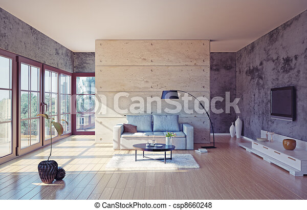 salle de séjour - csp8660248
