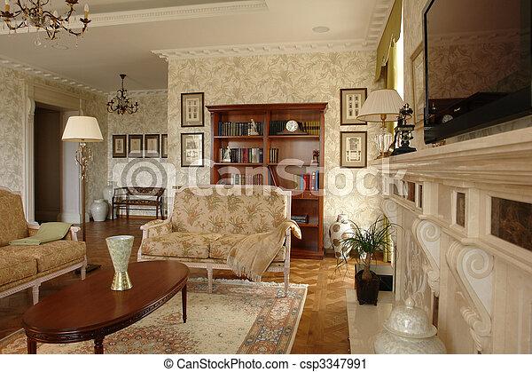 salle de séjour - csp3347991