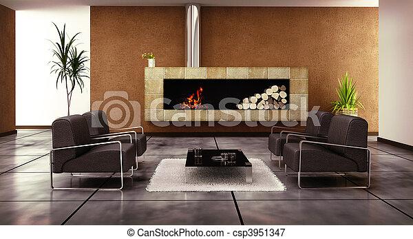 salle de séjour - csp3951347