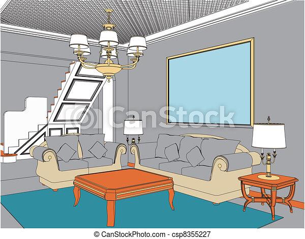 salle de séjour - csp8355227