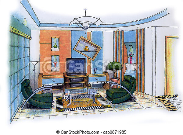 salle de séjour - csp0871985