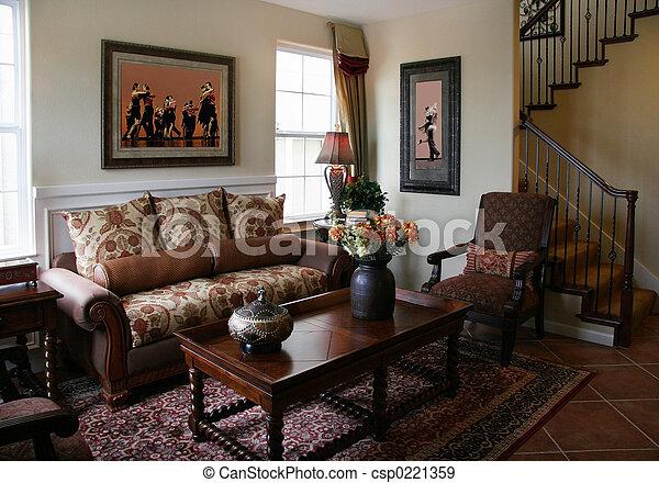 salle de séjour - csp0221359