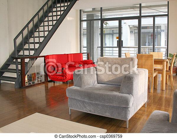 salle de séjour - csp0369759
