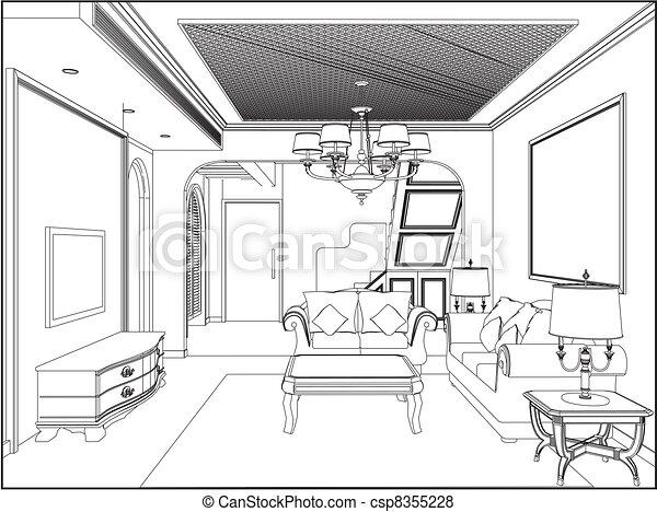 salle de séjour - csp8355228