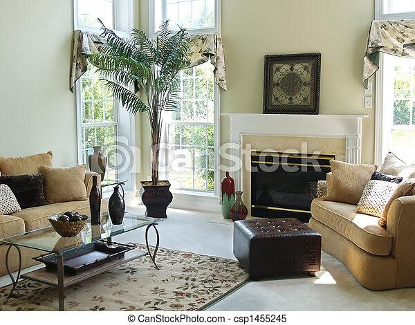 salle, famille, confortable - csp1455245
