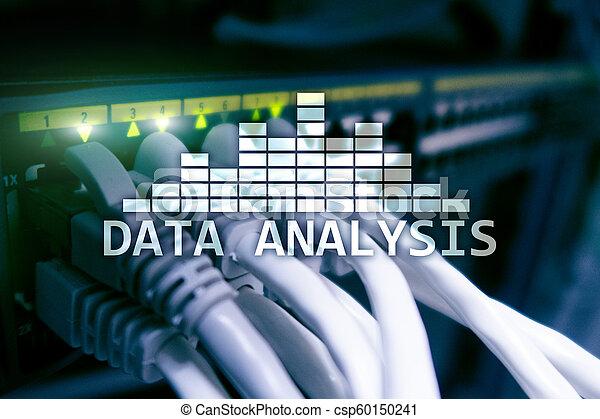 salle, grand, concept., moderne, analyse, serveur, arrière-plan., texte, données, technologie internet - csp60150241