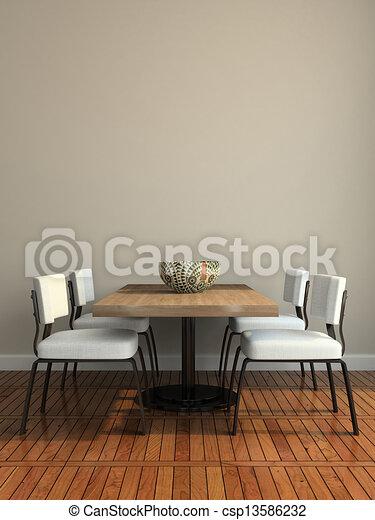 salle manger, partie, moderne - csp13586232