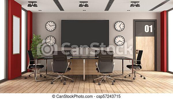 salle réunion, moderne - csp57243715