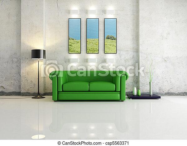 salle, vivant - csp5563371
