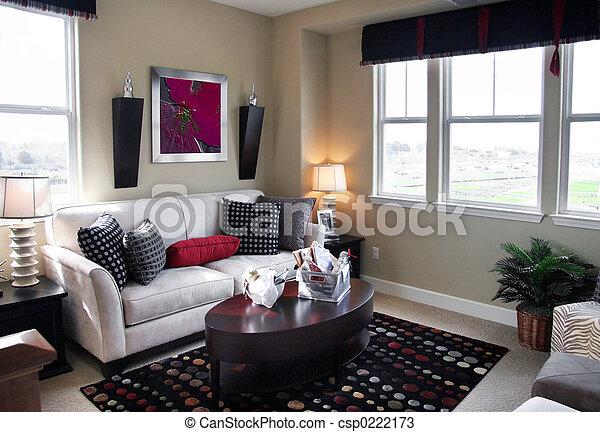 salle, vivant - csp0222173