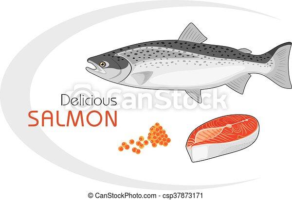 Salmón delicioso - csp37873171