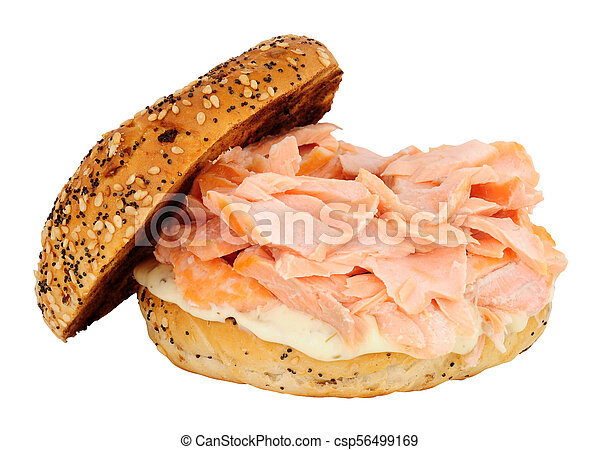 salmon and cream cheese bagel rh canstockphoto ie Funny Bagels Coffee and Bagels Clip Art