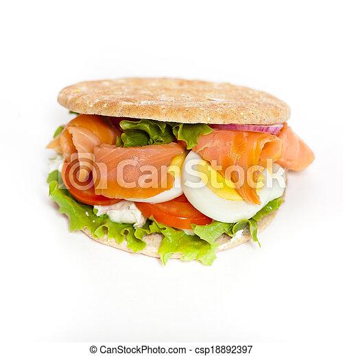 salmon bagel sandwich rh canstockphoto com Funny Bagels Bagel Cartoon Clip Art