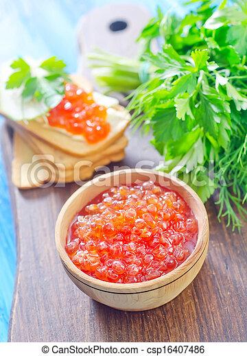 salmon caviar - csp16407486