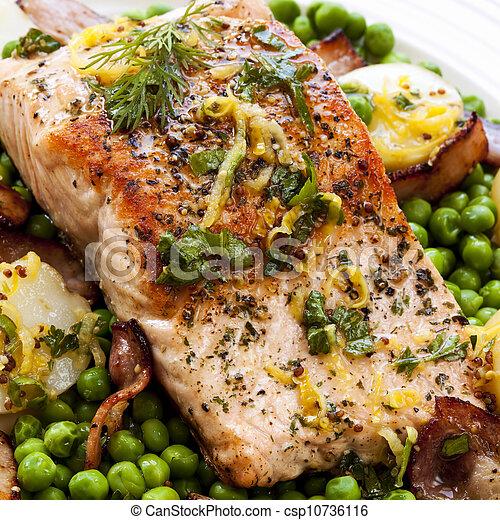 Salmon Dinner - csp10736116