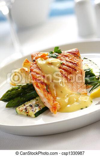 Salmon Dinner - csp1330987
