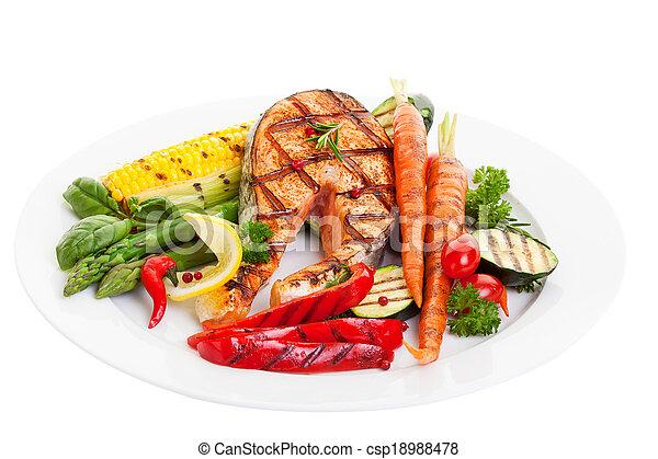 Salmon Dinner - csp18988478