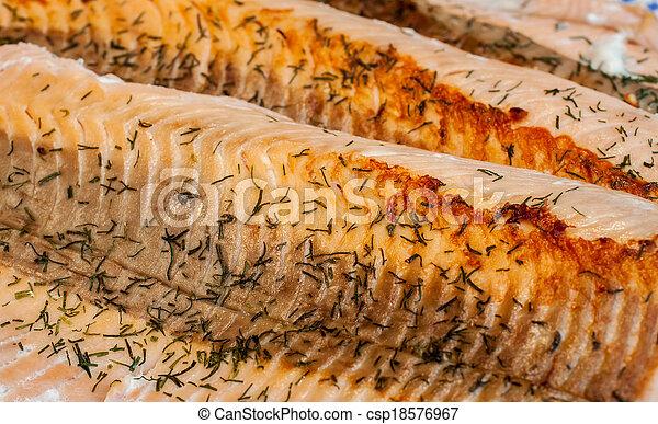 Salmon Dinner - csp18576967