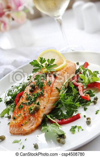 Salmon Dinner - csp4508780