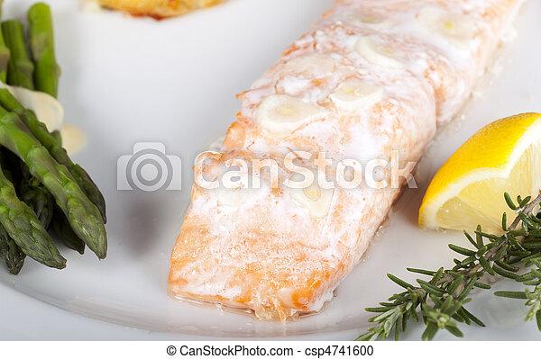 Salmon Dinner - csp4741600