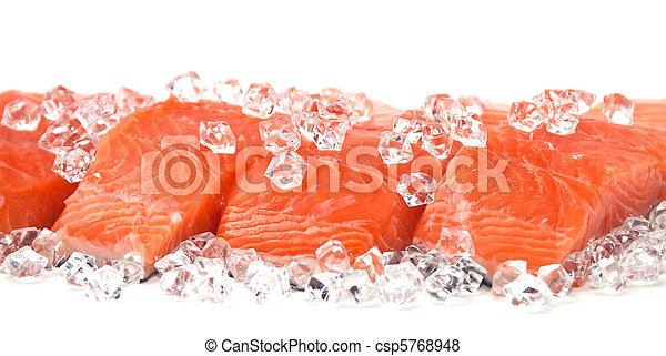 salmon on ice - csp5768948