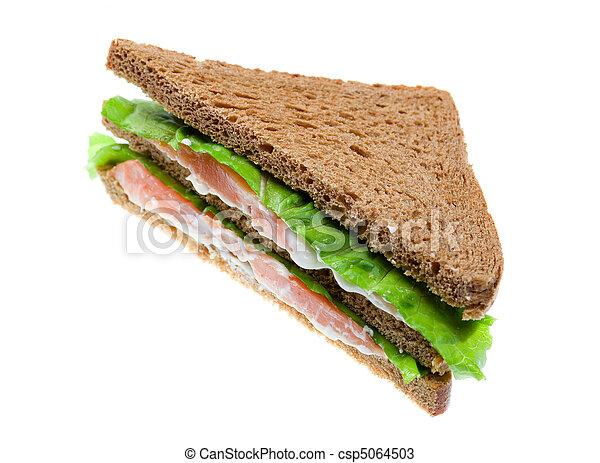 salmon sandwiches. isolated - csp5064503