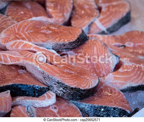 salmon steaks - csp25652571