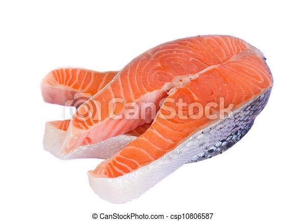 salmon steaks - csp10806587