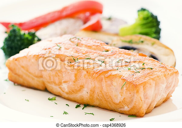 Salmon with Vegetable - csp4368926