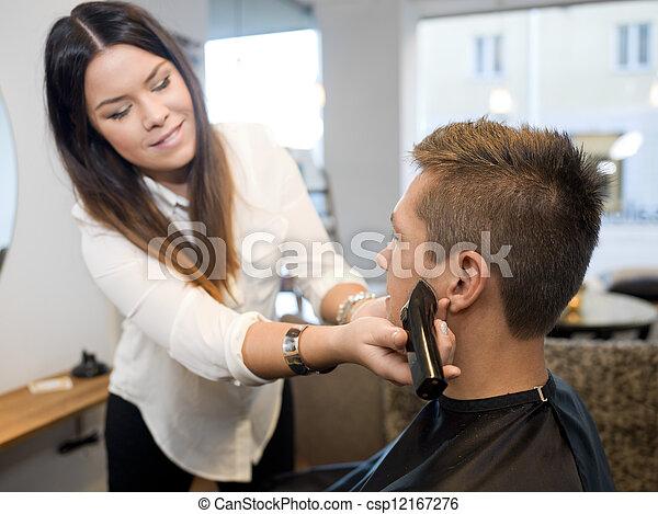 salon, beauté, homme - csp12167276