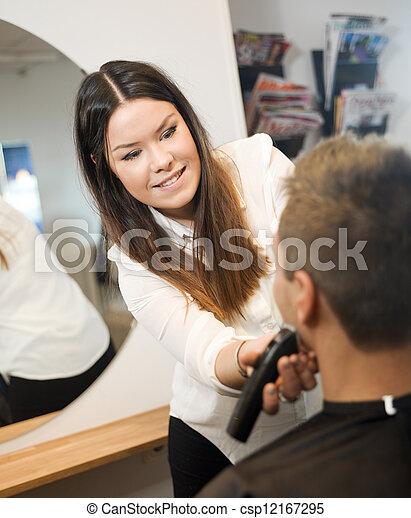 salon, beauté, homme - csp12167295