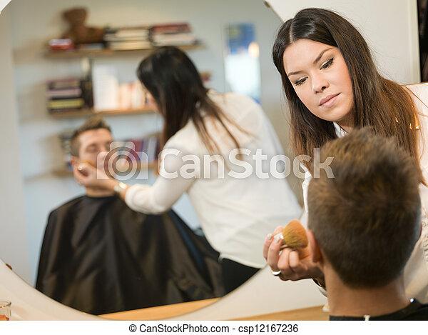 salon, beauté, homme - csp12167236
