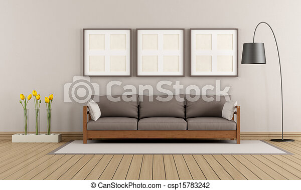 salon brun moderne beige bois sofa moderne salon. Black Bedroom Furniture Sets. Home Design Ideas