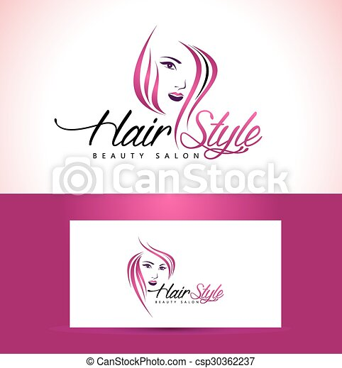 salon, coiffure, logo, conception