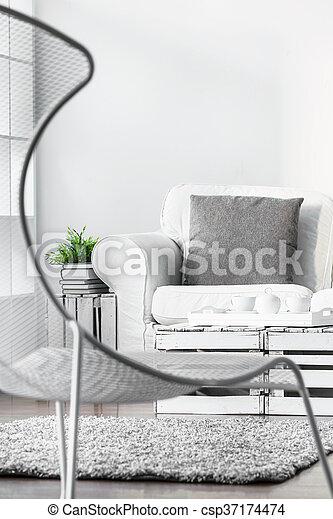 Salon Fauteuil Moderne Style Confortable Plancher Fauteuil