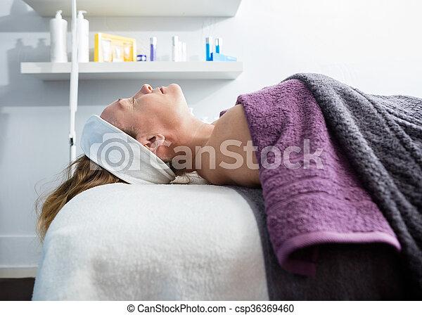 salon, femme, beauté, subir, traitement - csp36369460