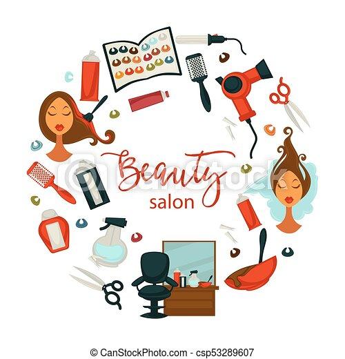 Salon Frau Schoenheit Friseur Plakat Haar Färben