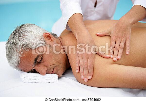 salon, masage, homme - csp8794962