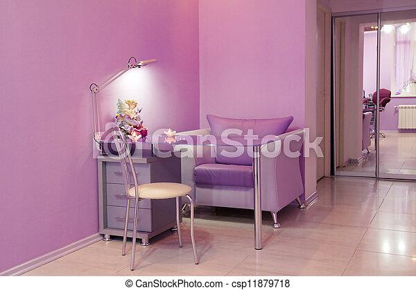 salon, modern, nagelkosmetik, zimmer, schoenheit