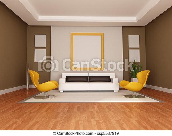 salon, moderne - csp5537919