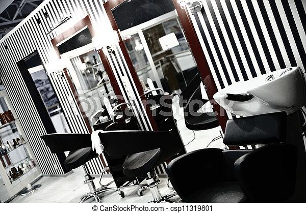 Salon, Moderne, Style, Épingle Augmentez, Luxe, Intérieur, Coiffure