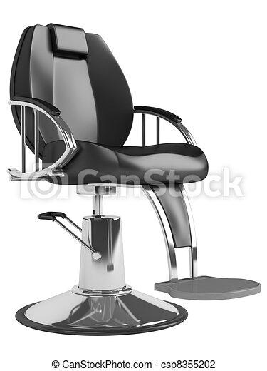 Salon Noir Chaise Coiffure
