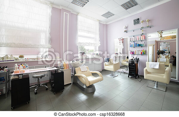 salone capelli, pulito, europeo - csp16328668