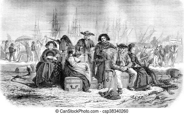 Salone migrants vendemmia schuler th 1861 pittura for Pittura salone