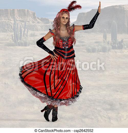 Saloon Girl #08 - csp2642552