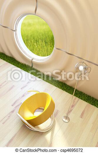 salotto, interno, stanza, moderno - csp4695072